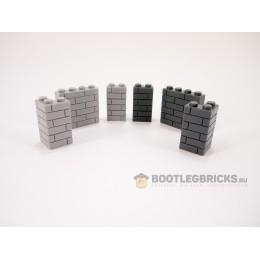 Набор деталей для строительства стен/зданий - 600 деталей