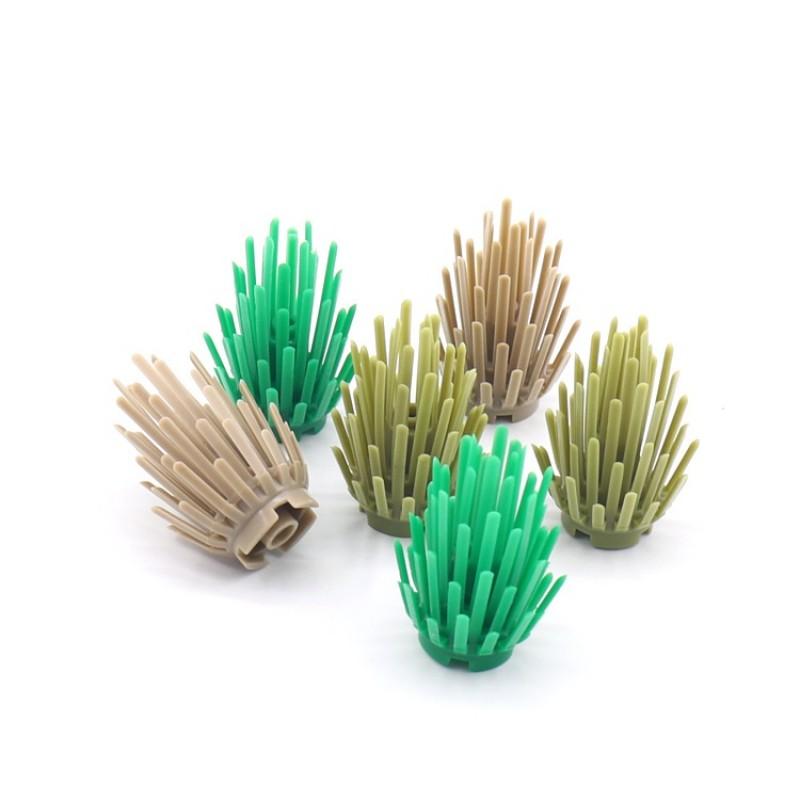Лего  растения - кусты 24 штуки (цвет - в ассортименте)