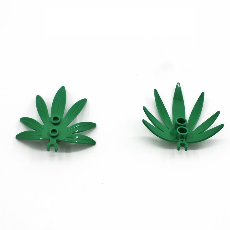 Лего растения - листья 100 шт