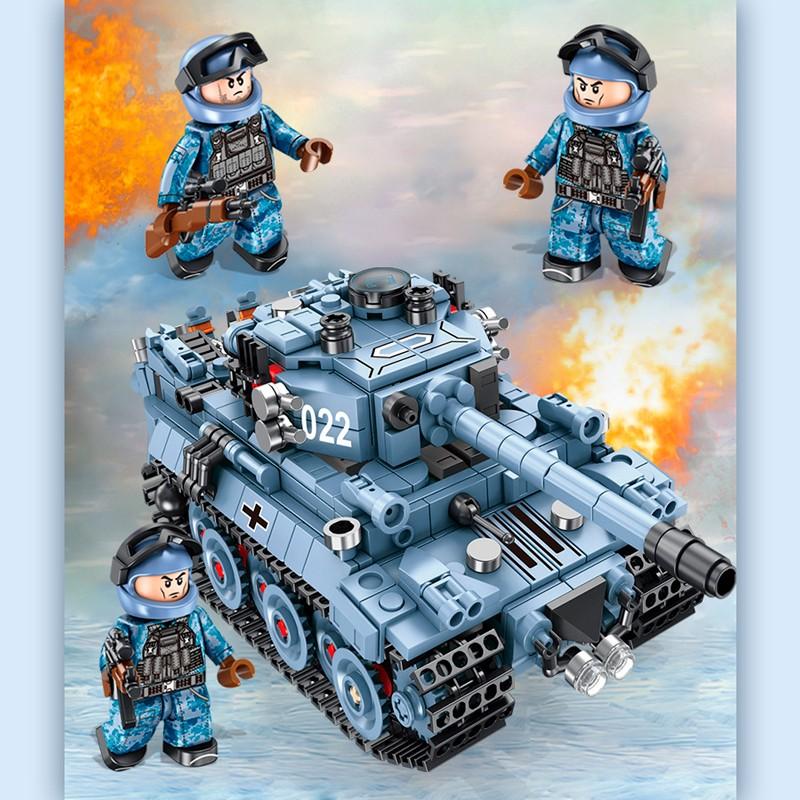 "621022 Panlos Brick Трансформер - Немецкий танк ""Тигр"": 2 в 1"