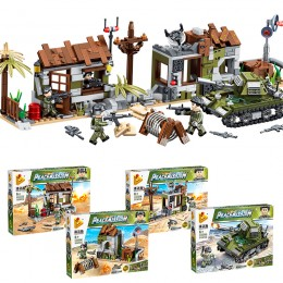 636004 Panlos Brick Набор из 4 военных конструкторов