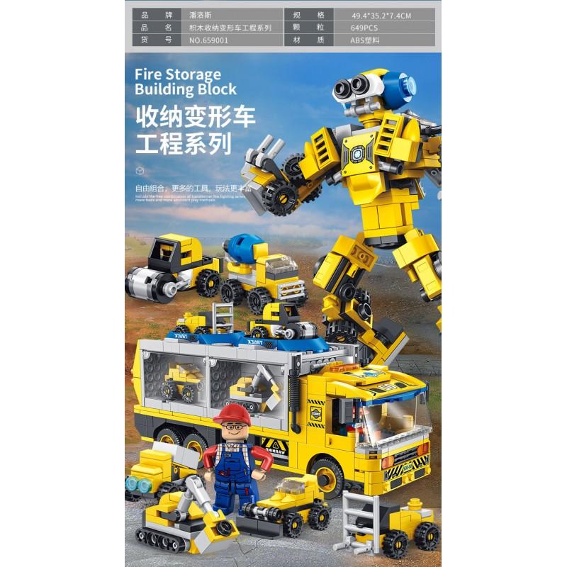 659001 Panlos Brick Строительная машина трансформер 6 в 1