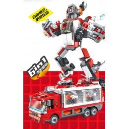 659003 Panlos Brick Пожарная машина трансформер 6 в 1