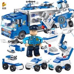 659004 Panlos Brick Полицейская машина трансформер 6 в 1