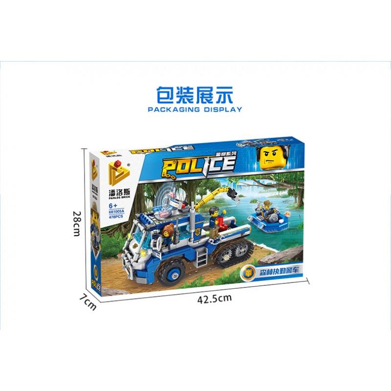 681005A Panlos Brick Полицейская серия: Полицейский эвакуатор