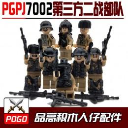 PGPJ7002 POGO Набор минифигурок Второй мировой войны - 8 шт.
