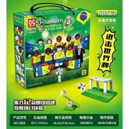 663 Quanguan Сборная Бразилии FIFA World Cup Russia 2018