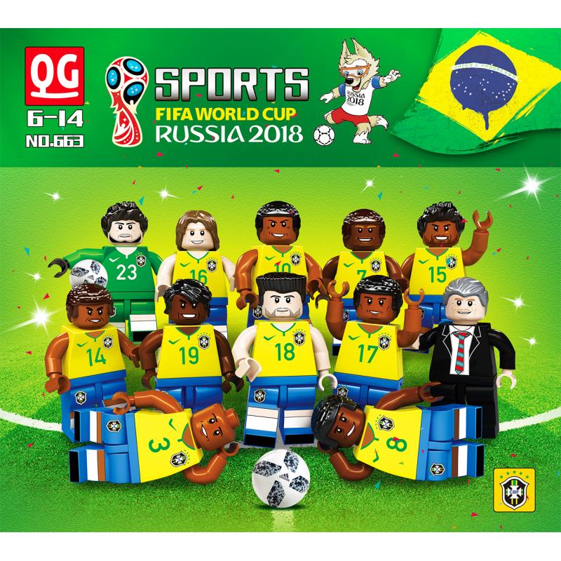 660 Quanguan Сборная России и Бразилии FIFA World Cup Russia 2018