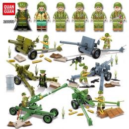 100079 Quanguan Артиллерия Второй Мировой: набор 6 в 1