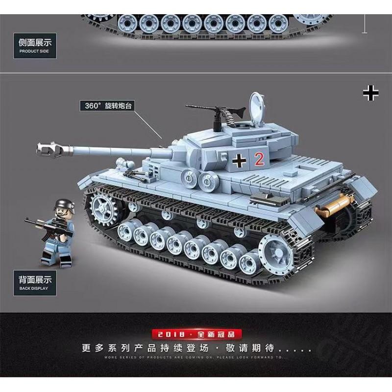Конструктор 100069 Quanguan Танк Pz IV