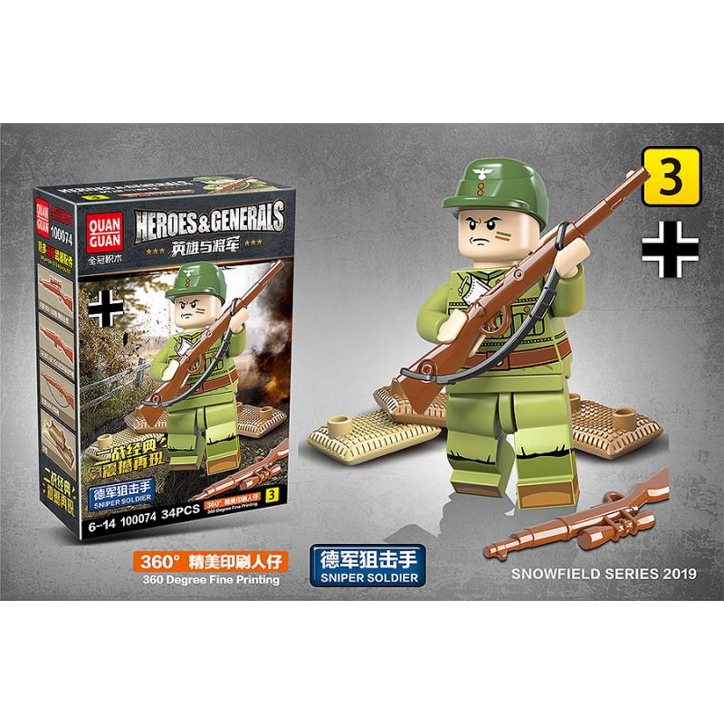100074 Quanguan Боевой расчет 20-мм зенитной пушки FlaK 30/38 - 6 в 1