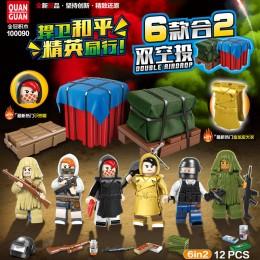 100090 Quanguan Набор PUBG из 6 минифигурок и аммуниции