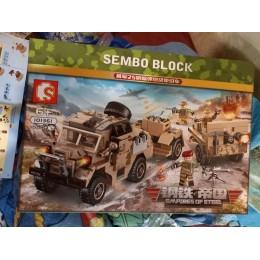 Фотообзор на 101361 Sembo Block Артиллерийский тягач и 25-фунтовая пушка-гаубица