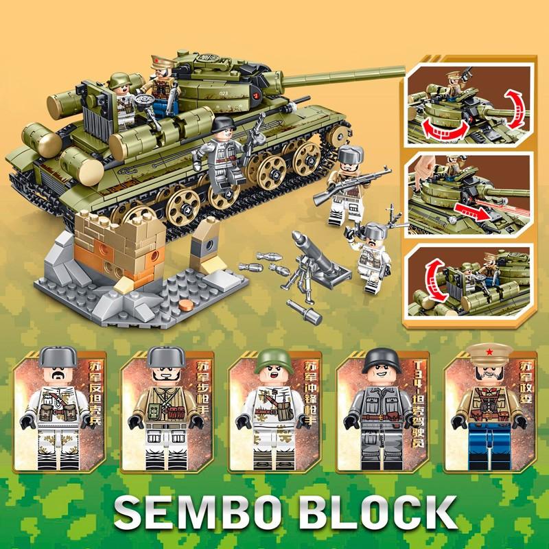 101038 Sembo Block Советский танк T-34