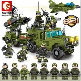105201-105208 Sembo Block Наземный и воздушный бой