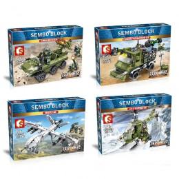 105475-78 Sembo Block Военная техника 4 в 1