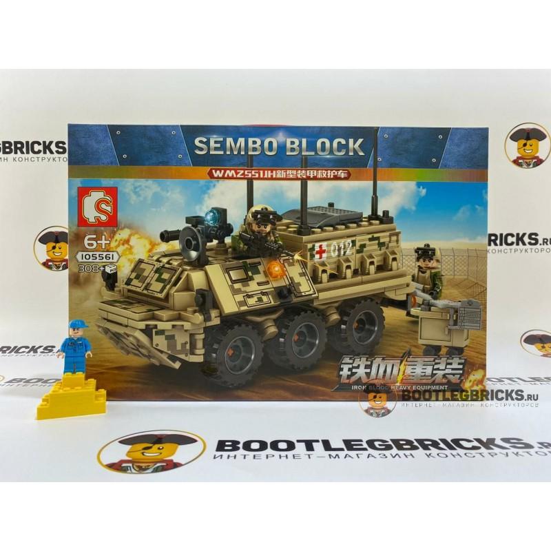 Конструктор 105561 Sembo Block Бронированная машина скорой помощи