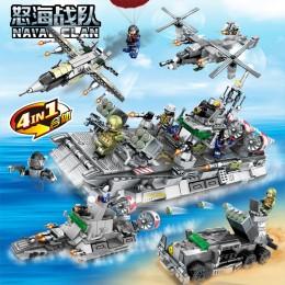 12170-12173 Sembo Block Морской спецназ: судно на воздушной подушке 4 в 1