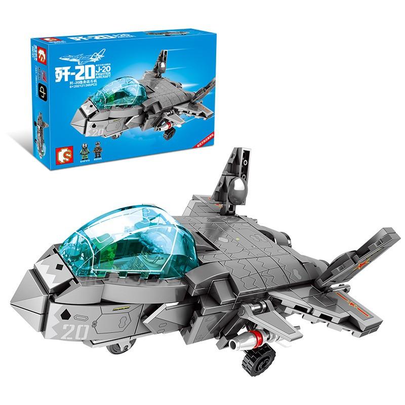 202121 Sembo Block Военный истребитель J-20