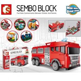 603063 Sembo Block Пожарная машина 2 в 1