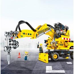 703701 Sembo Block 2 в 1: буровая установка и экскаватор-погрузчик