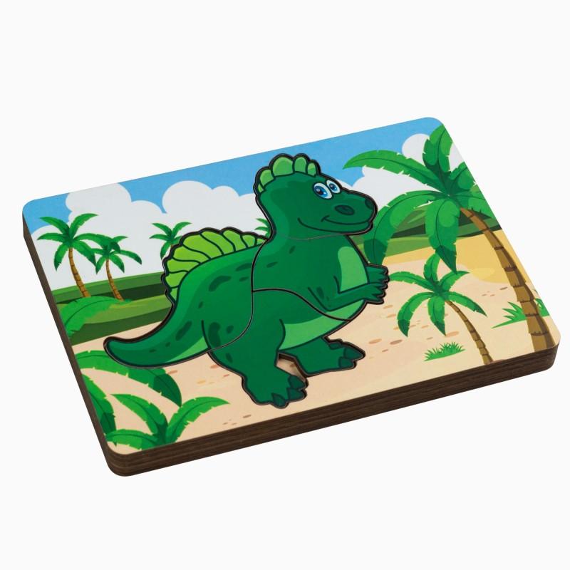 Вкладыш многослойный динозаврик