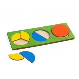 Рамки - вкладыши Никитина, 3 круга простые