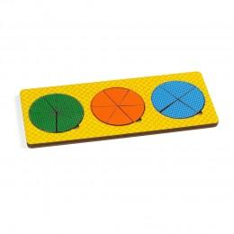 Рамки - вкладыши Никитина, 3 круга сложные