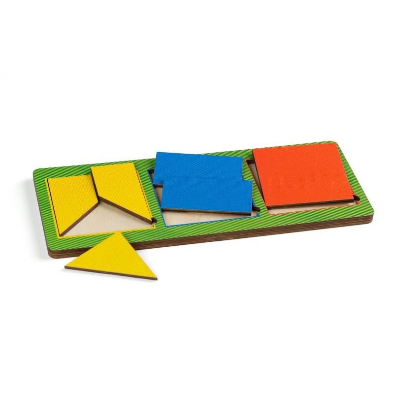 Рамки - вкладыши Никитина, 3 квадрата простые