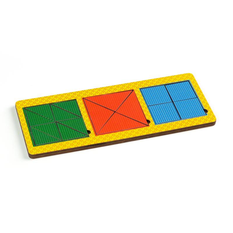 Рамки - вкладыши Никитина, 3 квадрата сложные