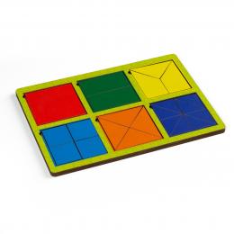 Рамки - вкладыши Никитина, 6 квадратов