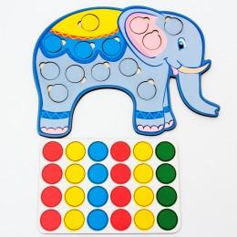 Дидактическая игра: «Весёлые кружочки – Слон»