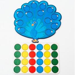 Дидактическая игра: «Весёлые кружочки – Павлин»