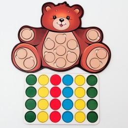 Дидактическая игра: «Весёлые кружочки – Мишка»