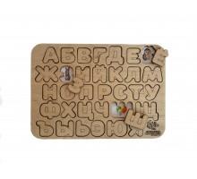Алфавит с гравировкой и цветной подложкой
