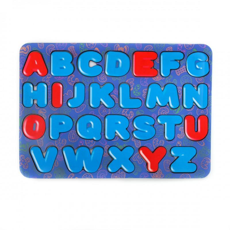 Алфавит английский с цветным принтом и цветной подложкой