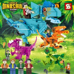 SY1503A-1503D SY Мир динозавров: 4 динозавра