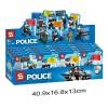 SY1488 SY Минифигурки 8 полицейских