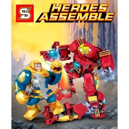 SY6399 SY Супергерои: набор 8 в 1 - Халкбастер против Таноса