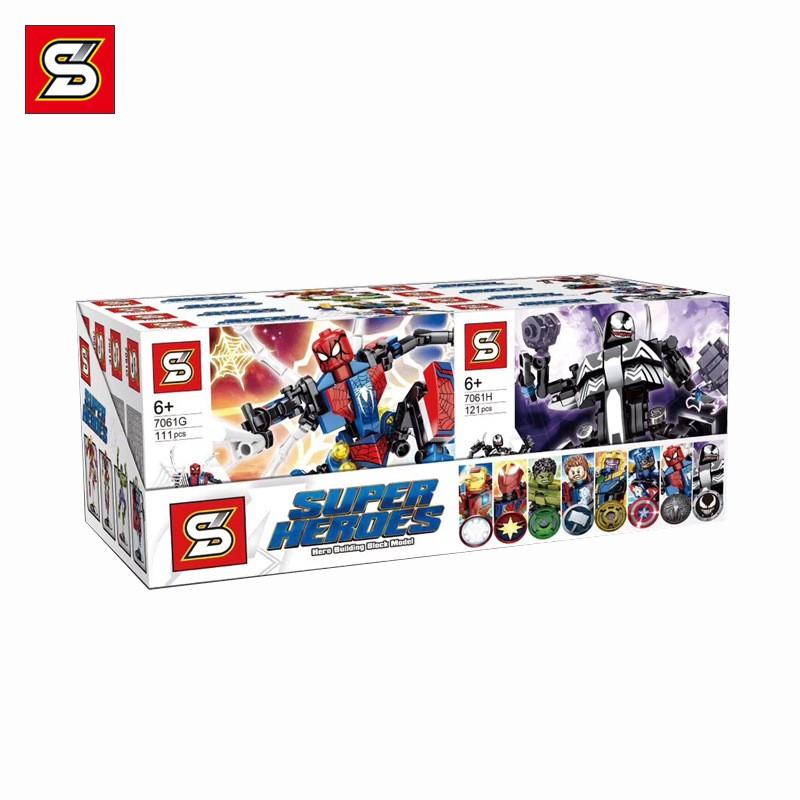 SY7061 SY Набор из 8 моделей персонажей Мстителей