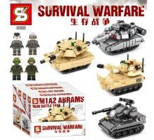 SY0106A-0106D SY Танки 4 в 1: М1А2, Т-90, САУ М109, ЗСУ Cheetah
