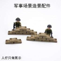 Военные элементы - коричневые мешки с песком 100 штук