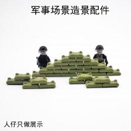 Военные элементы - зеленые мешки с песком 100 штук