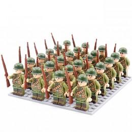 DZ-123 TBS Toys Солдаты: 24 минифигурки, 24 винтовки, 1 пластина 16х16