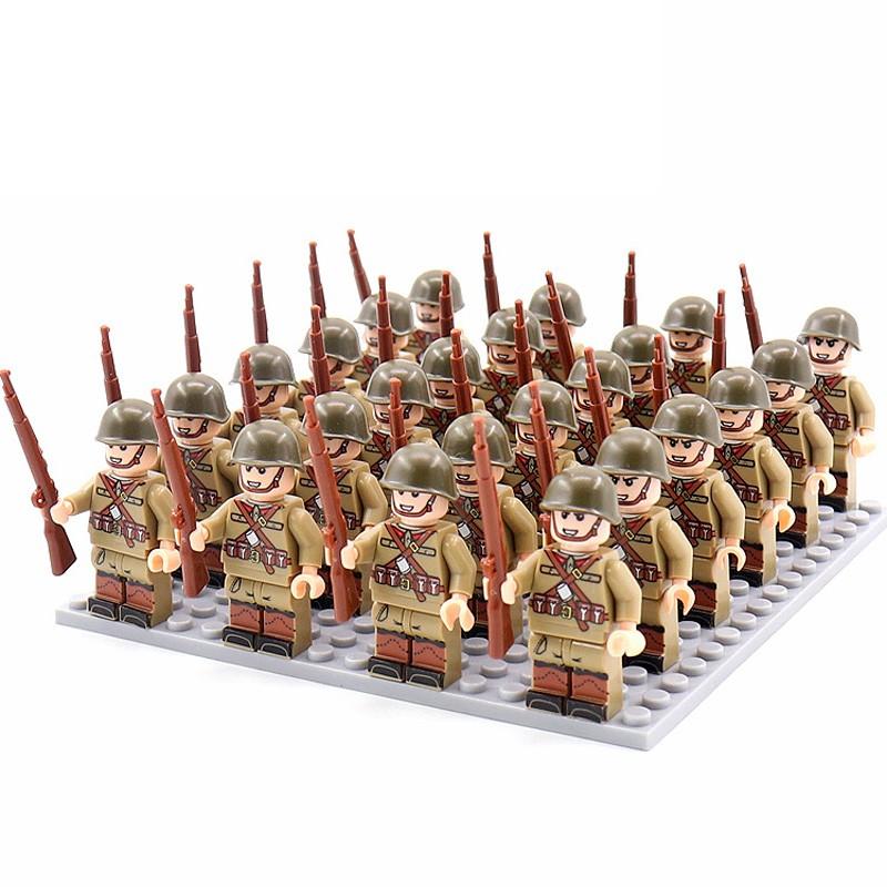 DZ-145 TBS Toys Солдаты: 24 минифигурки, 24 винтовки, 1 пластина 16х16