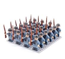 DZ-150 TBS Toys Солдаты: 24 минифигурки, 24 винтовки, 1 пластина 16х16