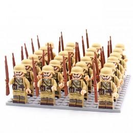 DZ-151 TBS Toys Солдаты: 24 минифигурки, 24 винтовки, 1 пластина 16х16