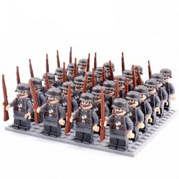 DZ-154 TBS Toys Солдаты: 24 минифигурки, 24 винтовки, 1 пластина 16х16