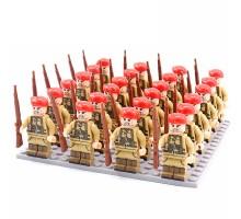 DZ-155 TBS Toys Солдаты: 24 минифигурки, 24 винтовки, 1 пластина 16х16