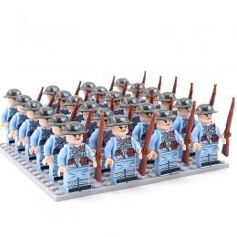DZ-156 TBS Toys Солдаты: 24 минифигурки, 24 винтовки, 1 пластина 16х16